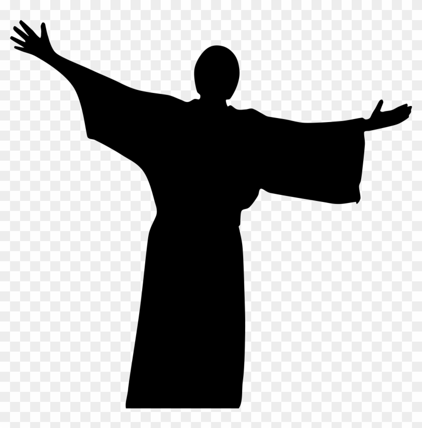 Empty tomb clipart silhouette. Jesus png free transparent