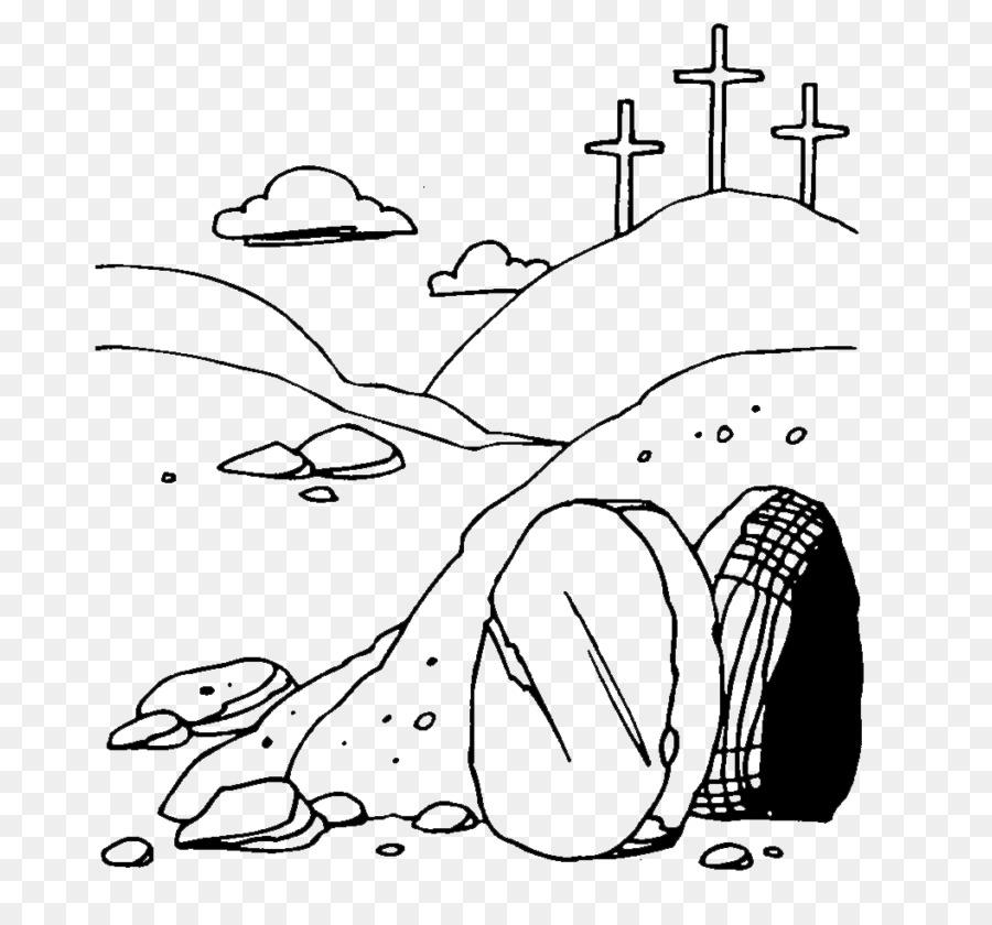 Of jesus resurrection clip. Empty tomb clipart silhouette
