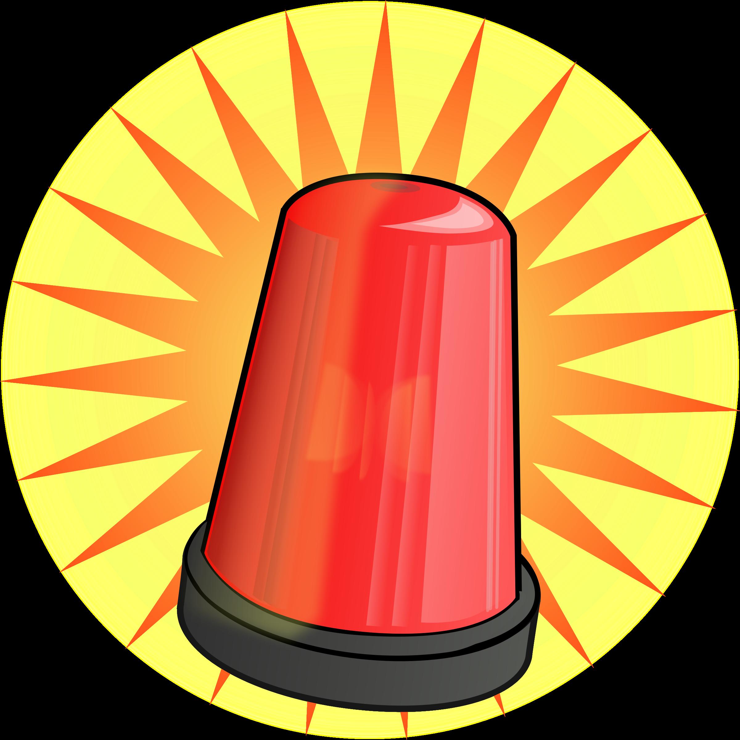Flashing red light alarm. Fireman clipart bumbero
