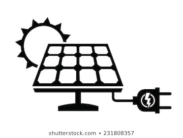Solar portal . Energy clipart black and white
