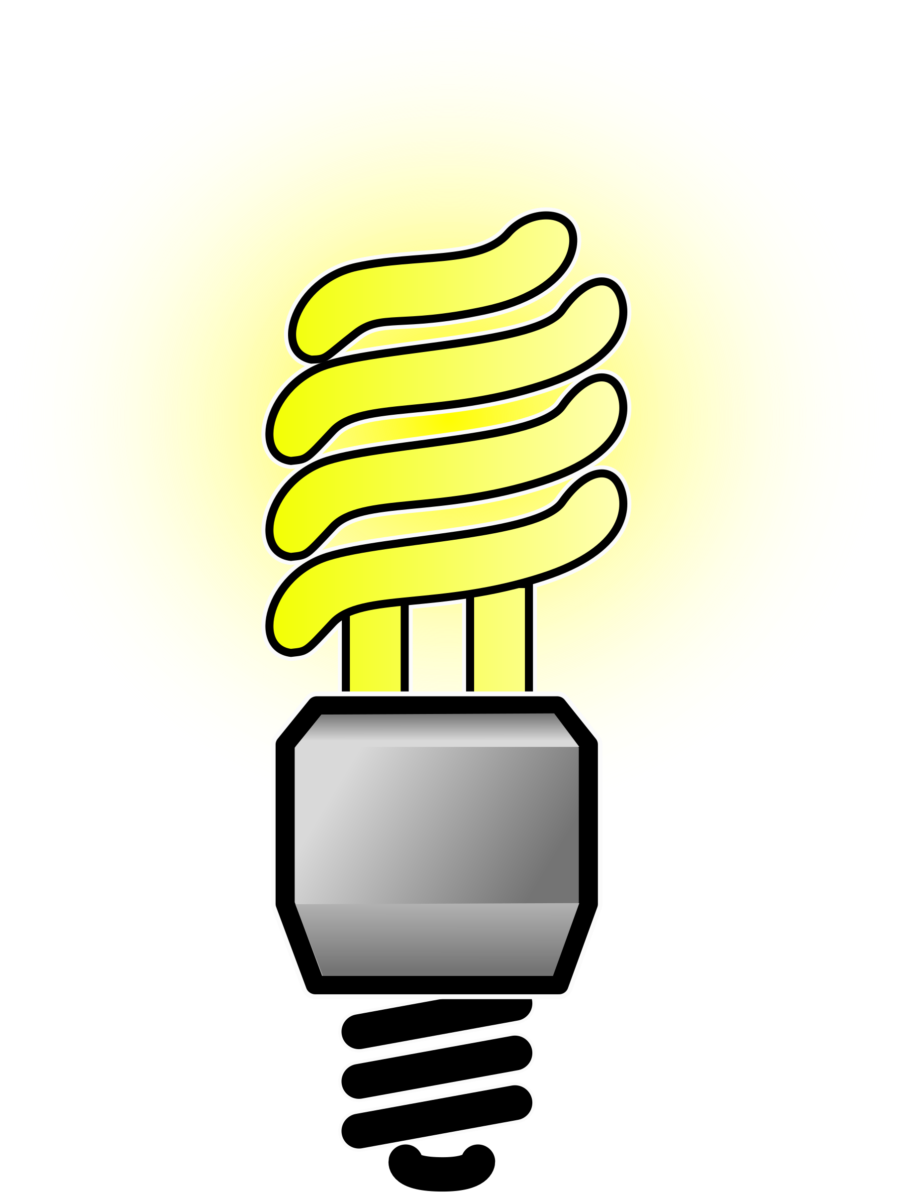 Energy saver lightbulb big. Lamp clipart bright