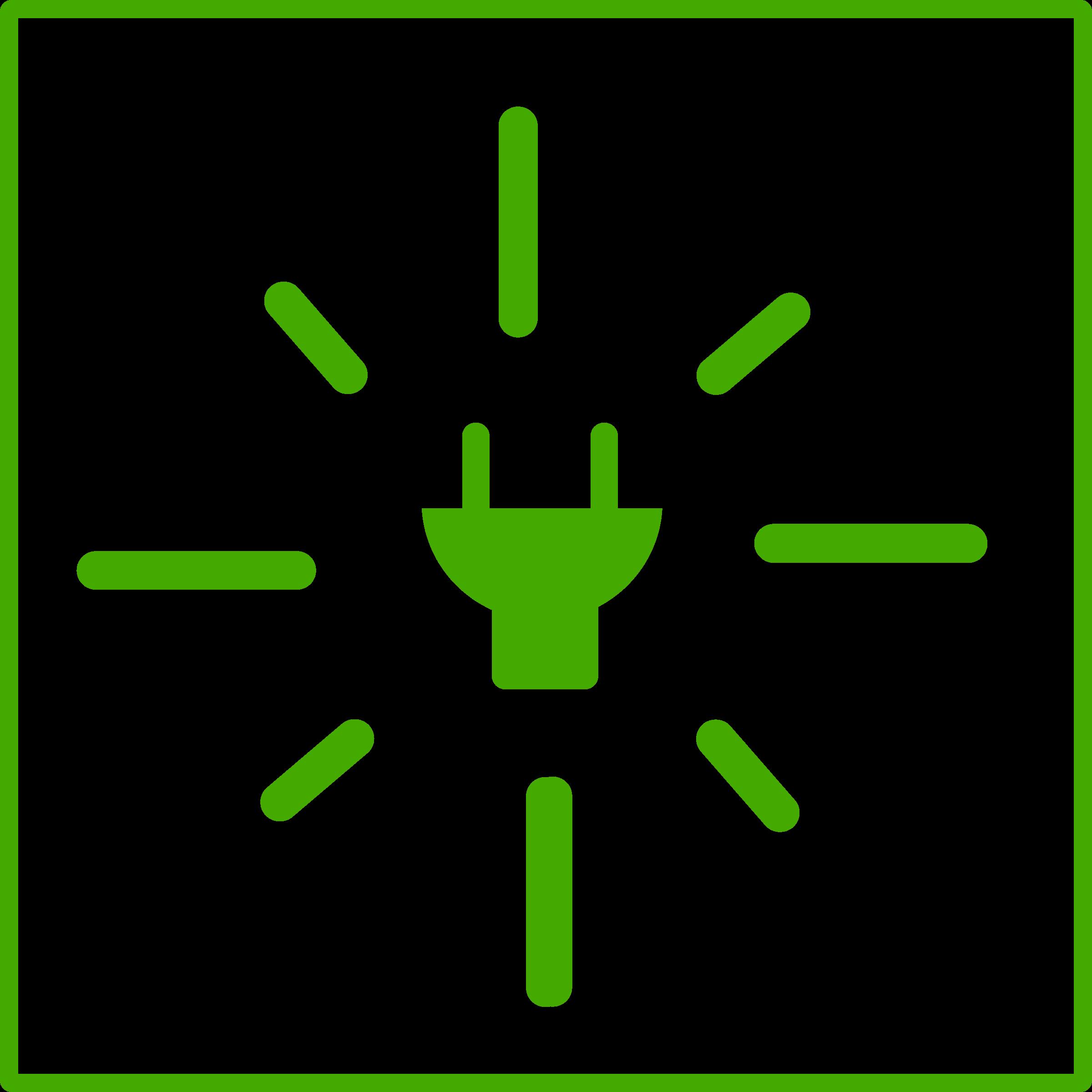 Eco green big image. Energy clipart icon