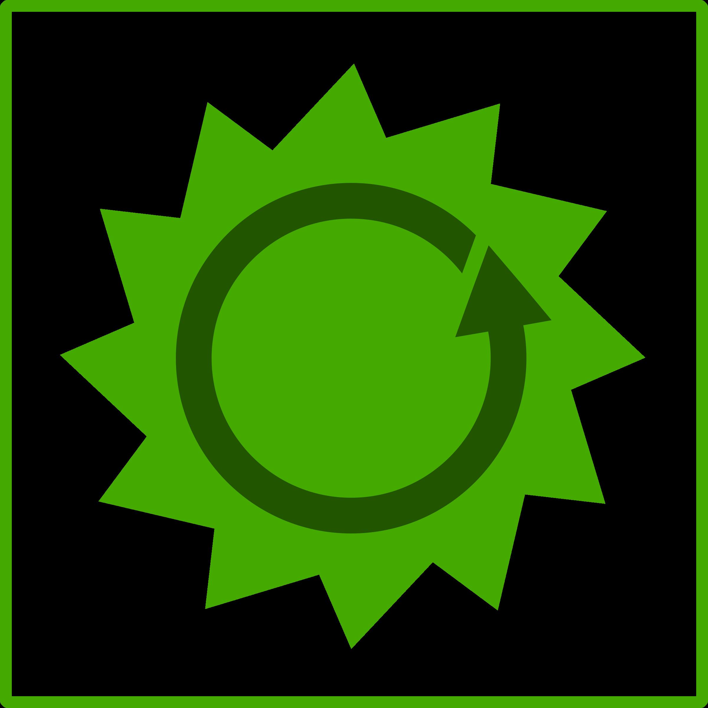 Energy clipart icon. Eco green big image