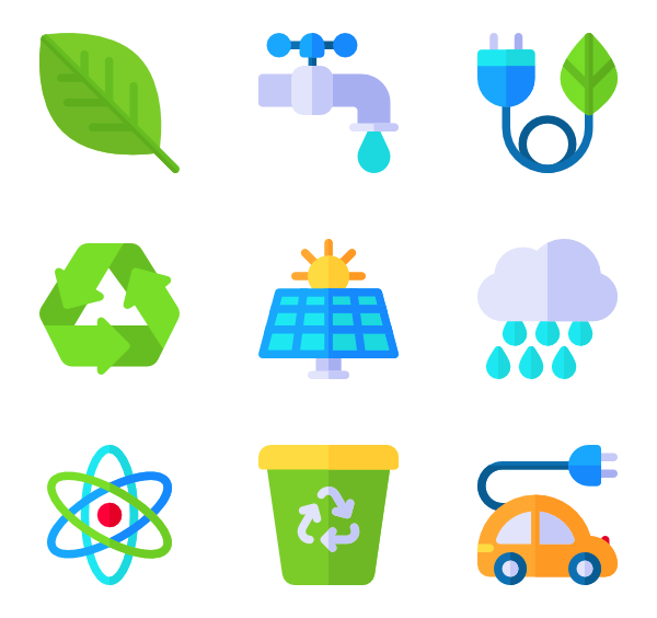renewable technology packs. Energy clipart icon