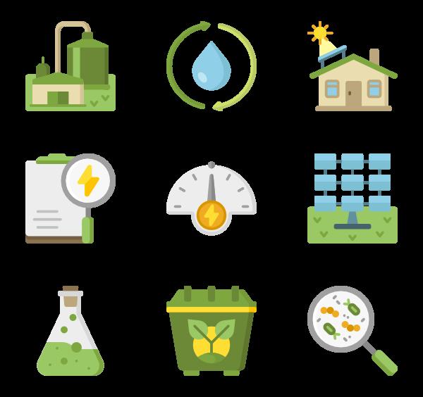 Renewable icons free vector. Energy clipart icon