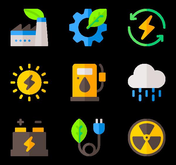 Renewable icons. Energy clipart icon vector free