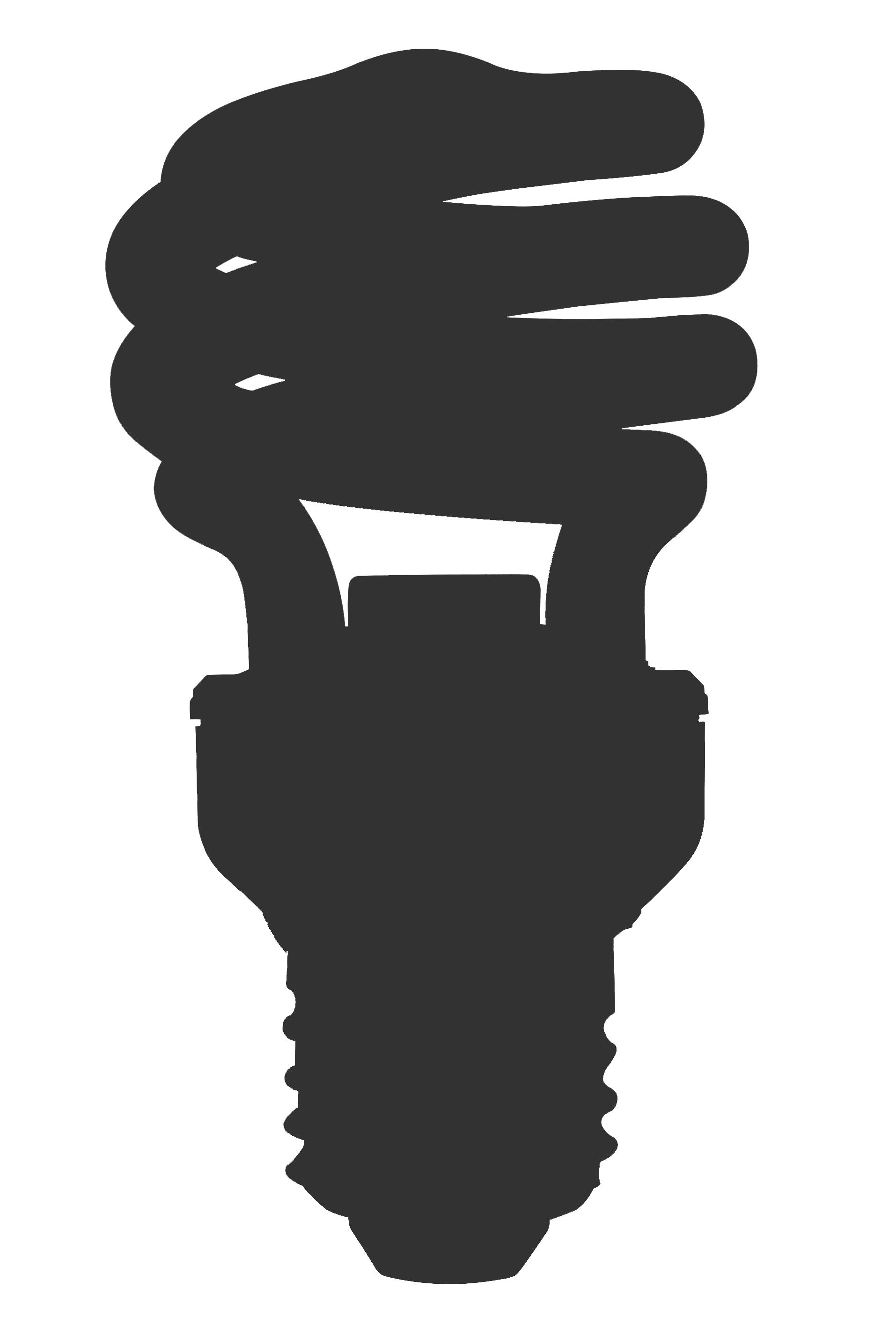 Light bulb png panda. Lightbulb clipart silhouette
