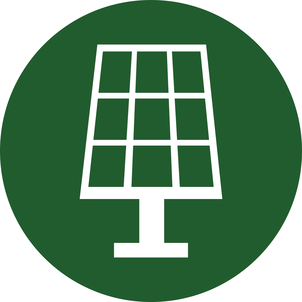 Residential solar heating generation. Energy clipart radiant energy
