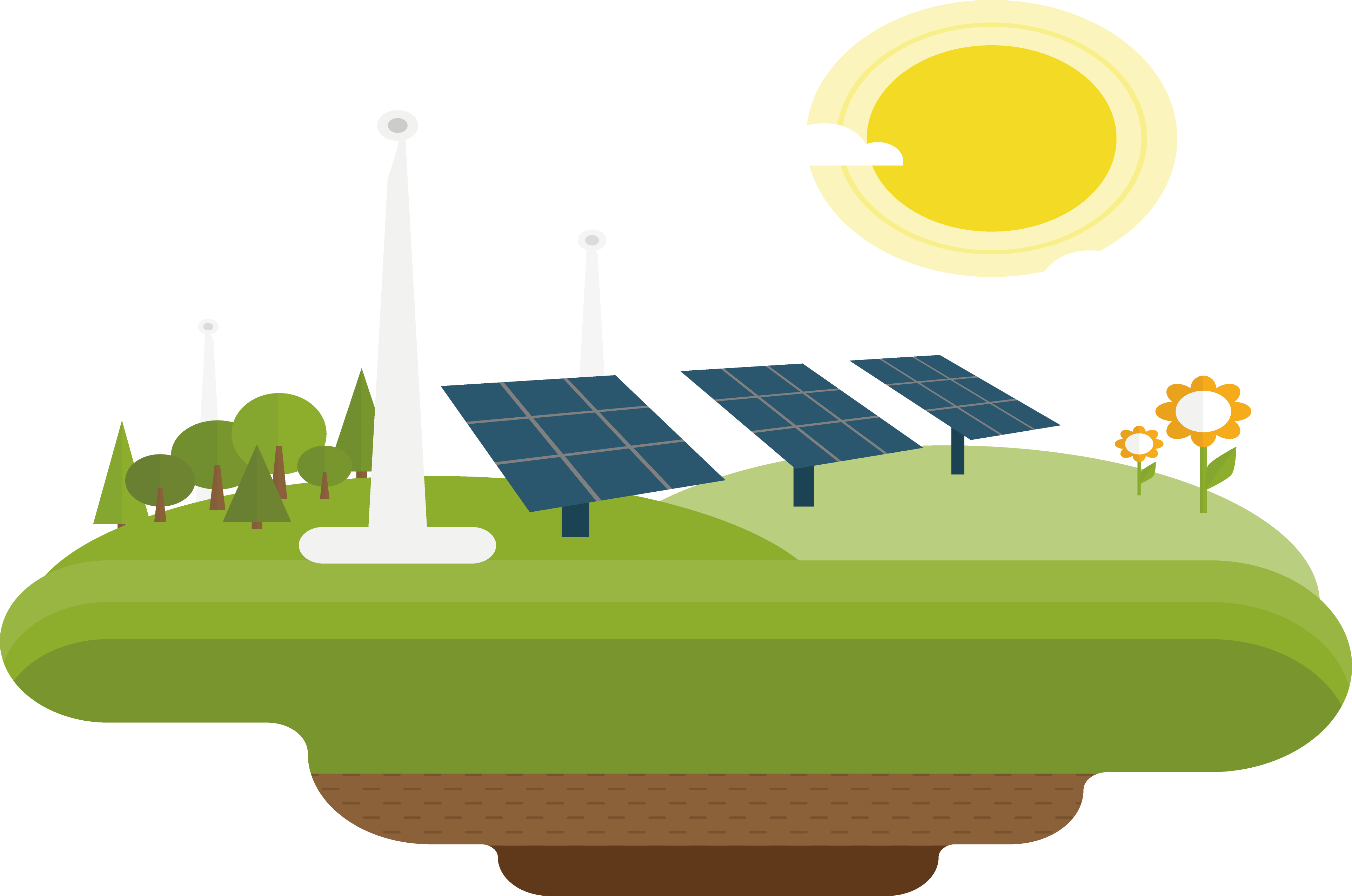 Energy clipart renewable energy. Solar wind power decorative