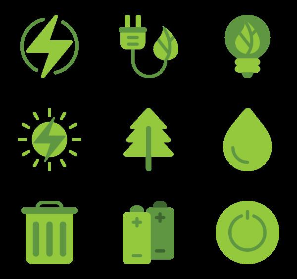 green icon packs. Energy clipart renewable energy