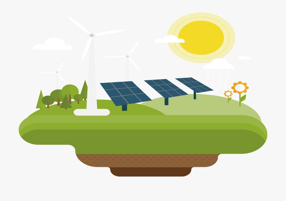 Solar wind power . Energy clipart renewable energy