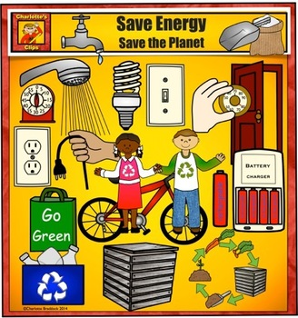 Earth day clip art. Energy clipart save