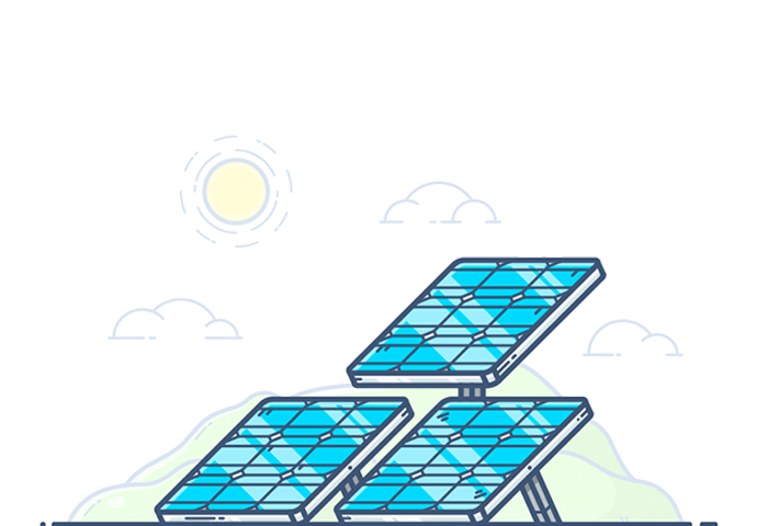 Energy clipart solar array. Distributed cloud enact systems