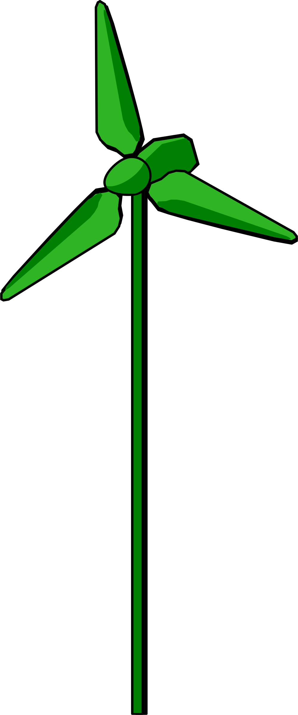 Positive clipart positive change. Wind turbine green big