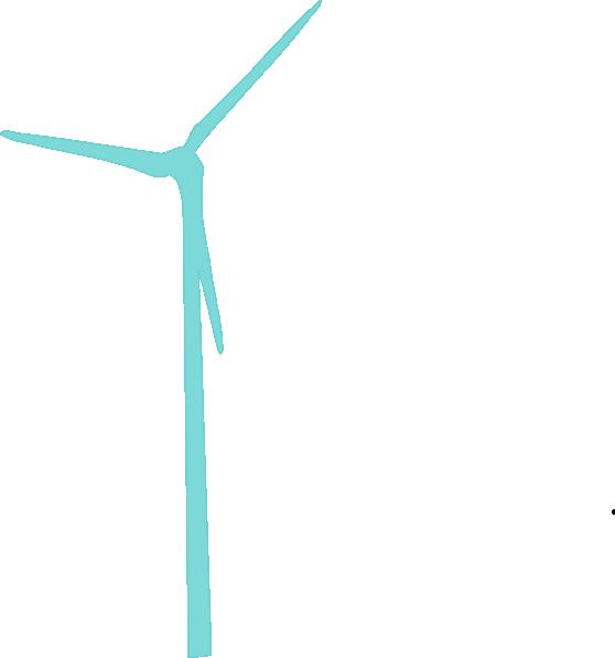 More teal wind turbine. Energy clipart windmill