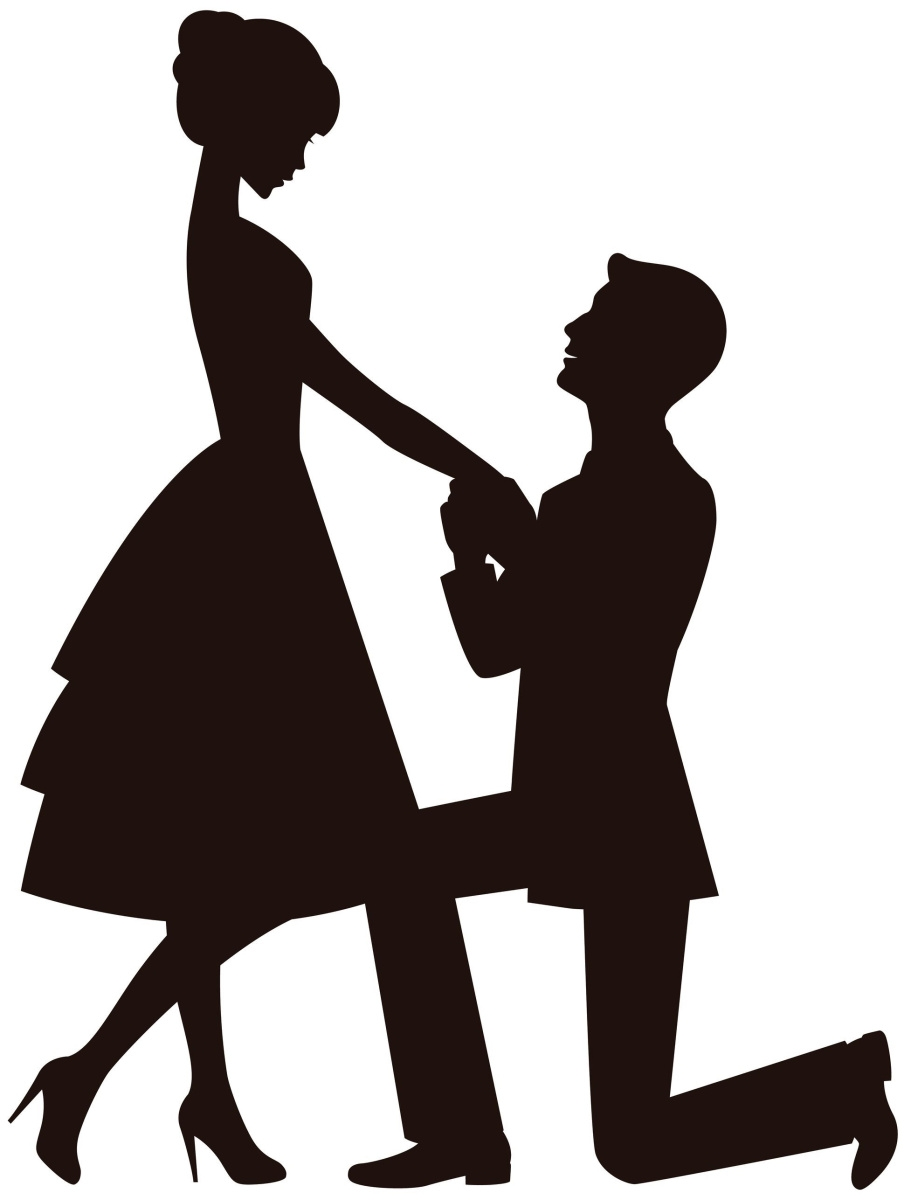 Black and white collection. Engagement clipart