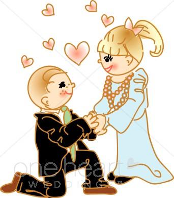 Proposal couples. Engagement clipart
