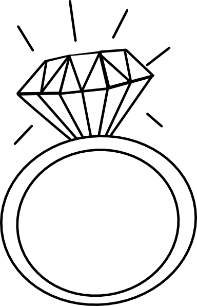Engagement clipart. Ring outline clip art