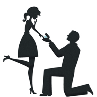 Proposal silhouette clip art. Engagement clipart