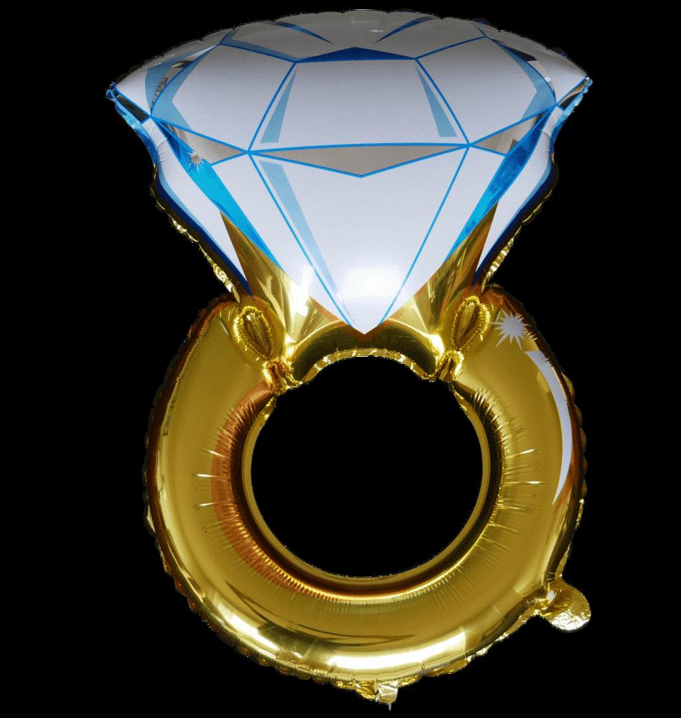 Engagement clipart bachelorette ring.  diamond balloon instaballoons