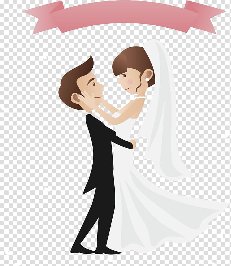 Wedding invitation greeting card. Engagement clipart cartoon