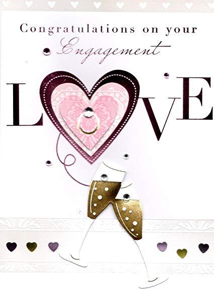 Engagement clipart engagement card. Amazon com congratulations on