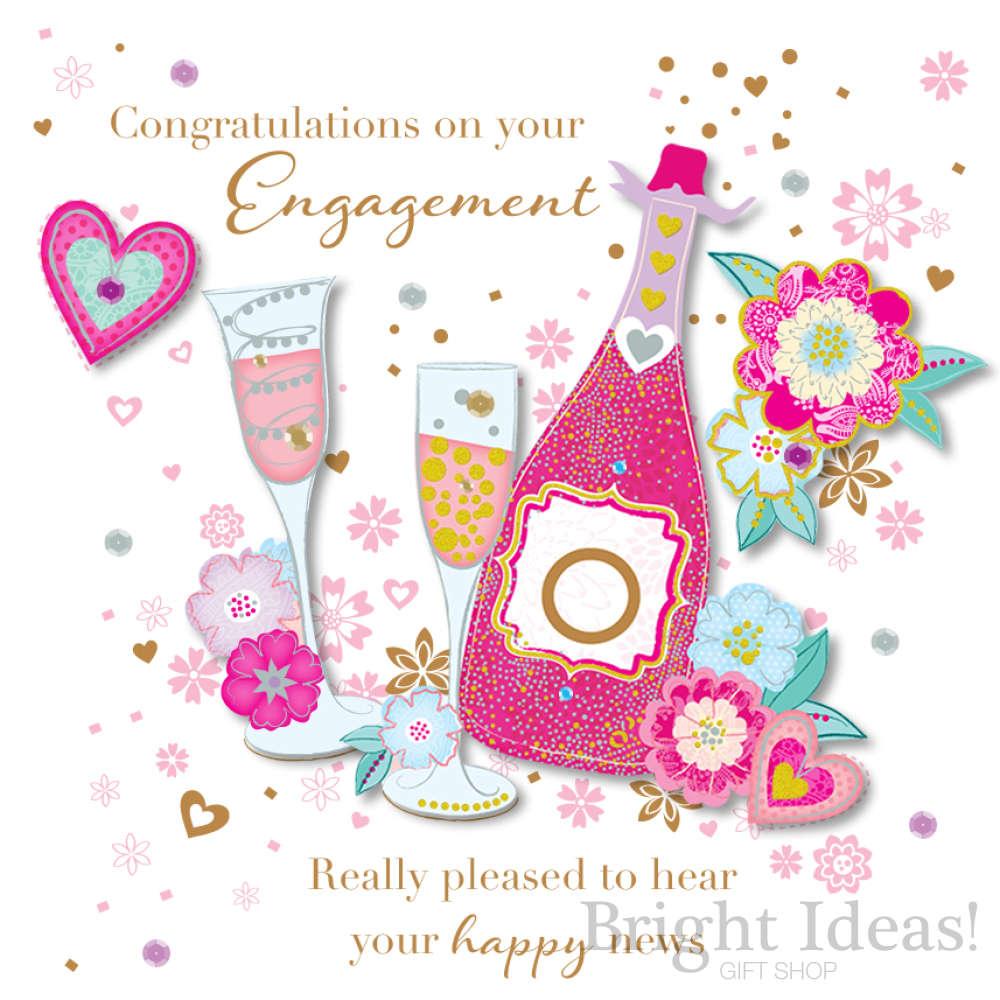 Congratulations . Engagement clipart engagement card