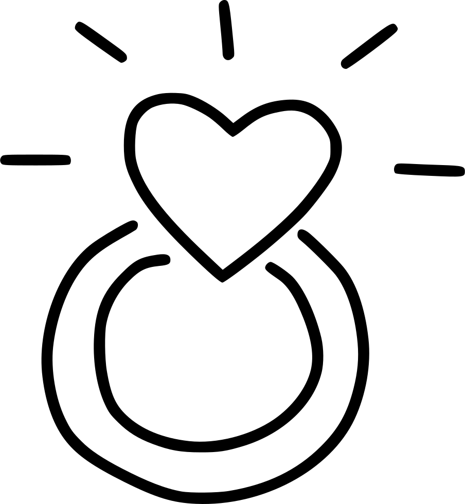 Heart marriage propose svg. Engagement clipart exchange ring