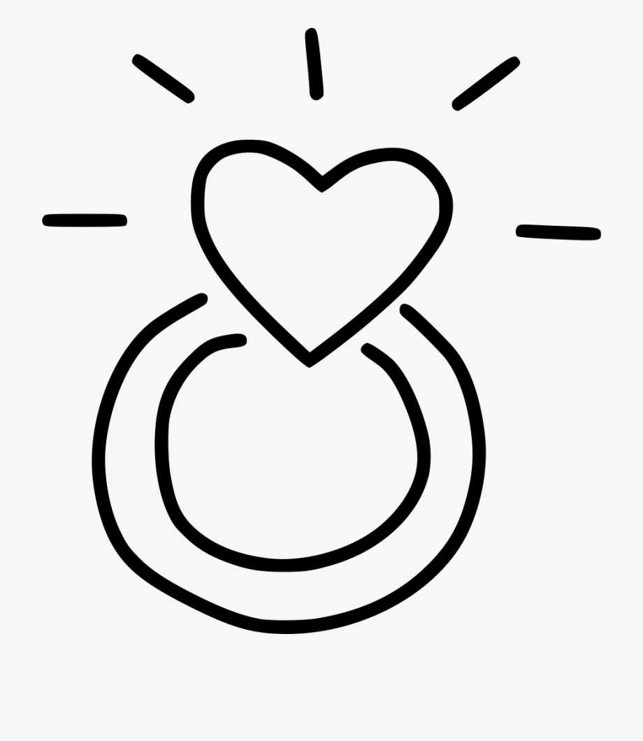 Engagement clipart heart. Ring with