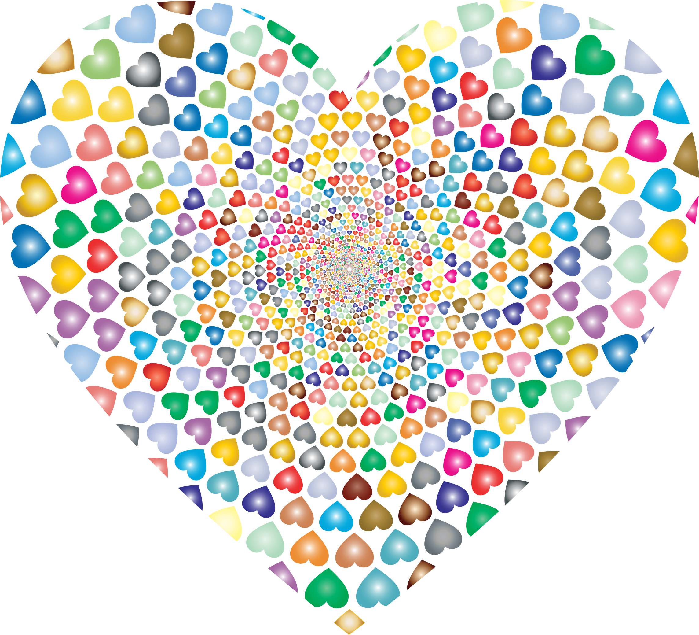 Engagement clipart heart. Prismatic hearts vortex big