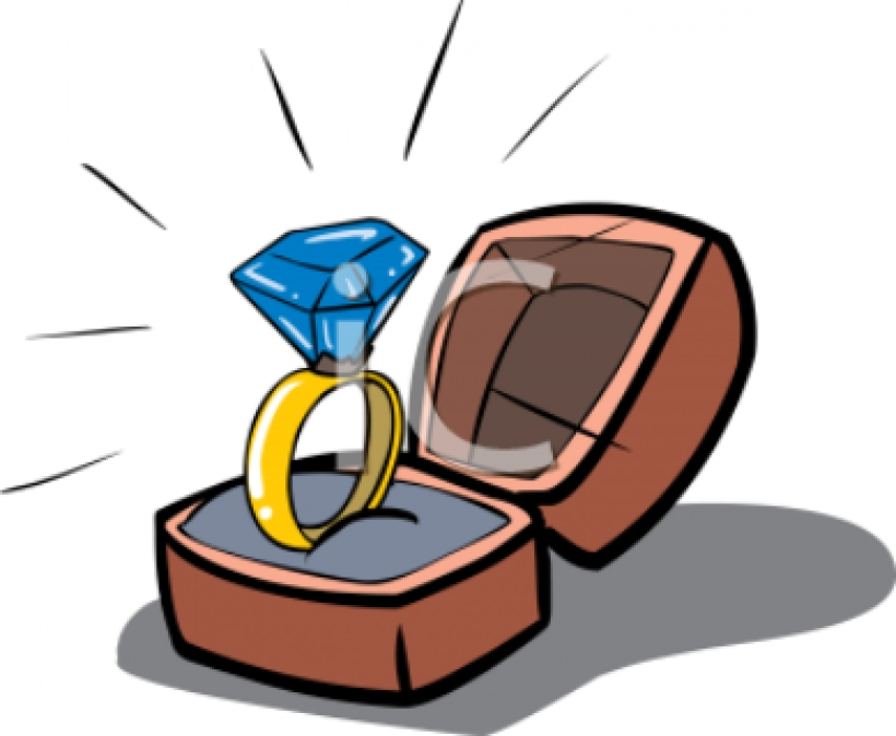 Engagement clipart in box. Free download best