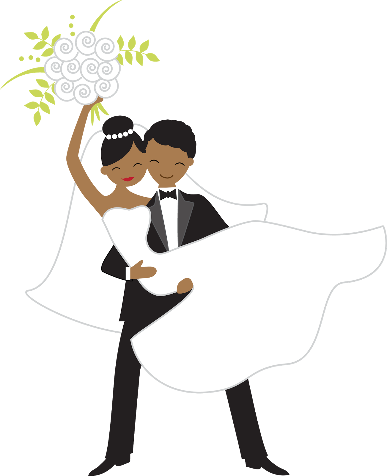 Throwing the bouquet oh. Engagement clipart proposal
