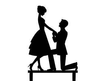 Engagement clipart proposal. Free marriage cliparts download