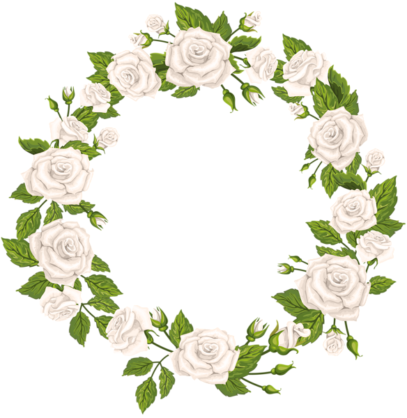 Garland clipart woodland. Roses border white png