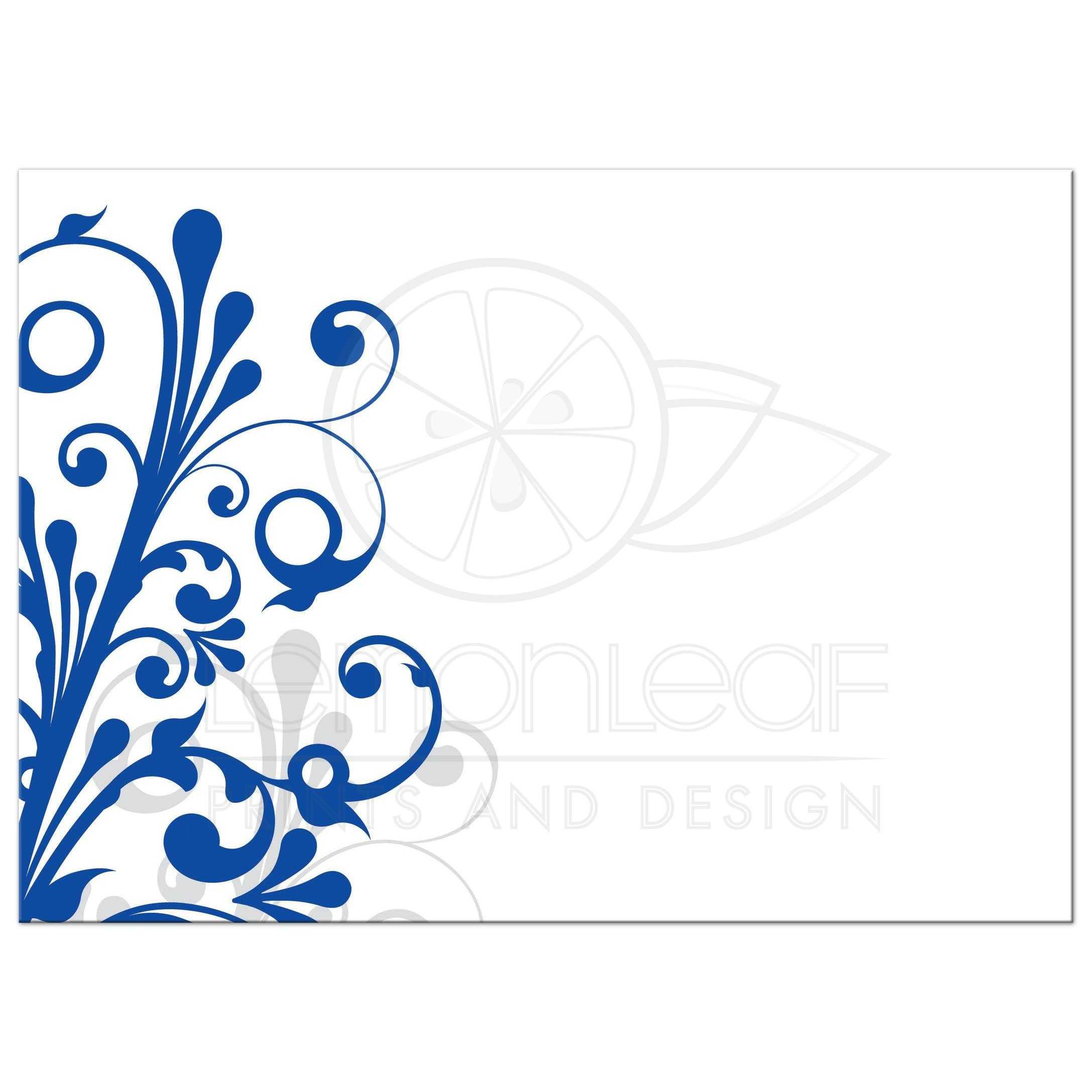 Elegant floral invitation . Engagement clipart royal blue wedding