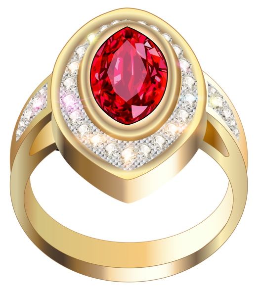 Engagement clipart ruby wedding. Gold ring with red
