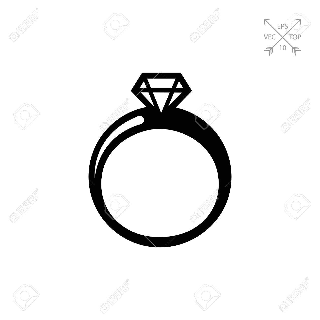 Engagement clipart shiny ring. Silhouette free download best