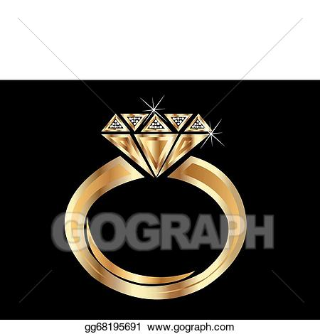 Vector art gold eps. Engagement clipart shiny ring
