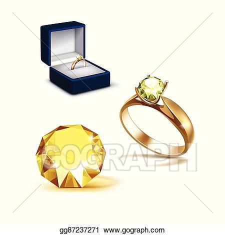 Eps illustration gold yellow. Engagement clipart shiny ring