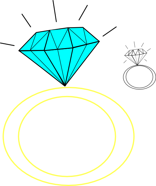 Free cartoon diamond download. Engagement clipart small ring