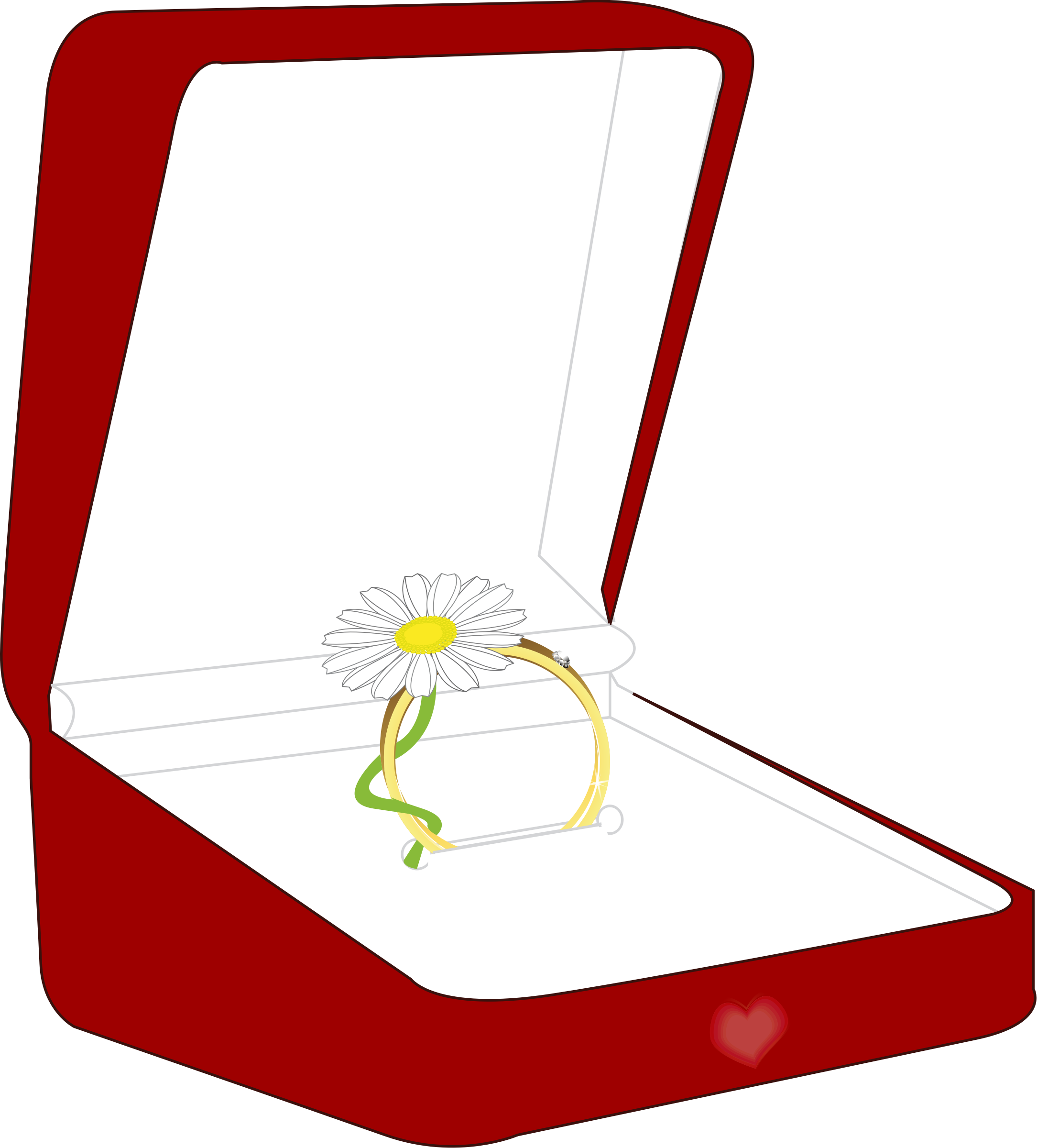 A box big image. Engagement clipart small ring