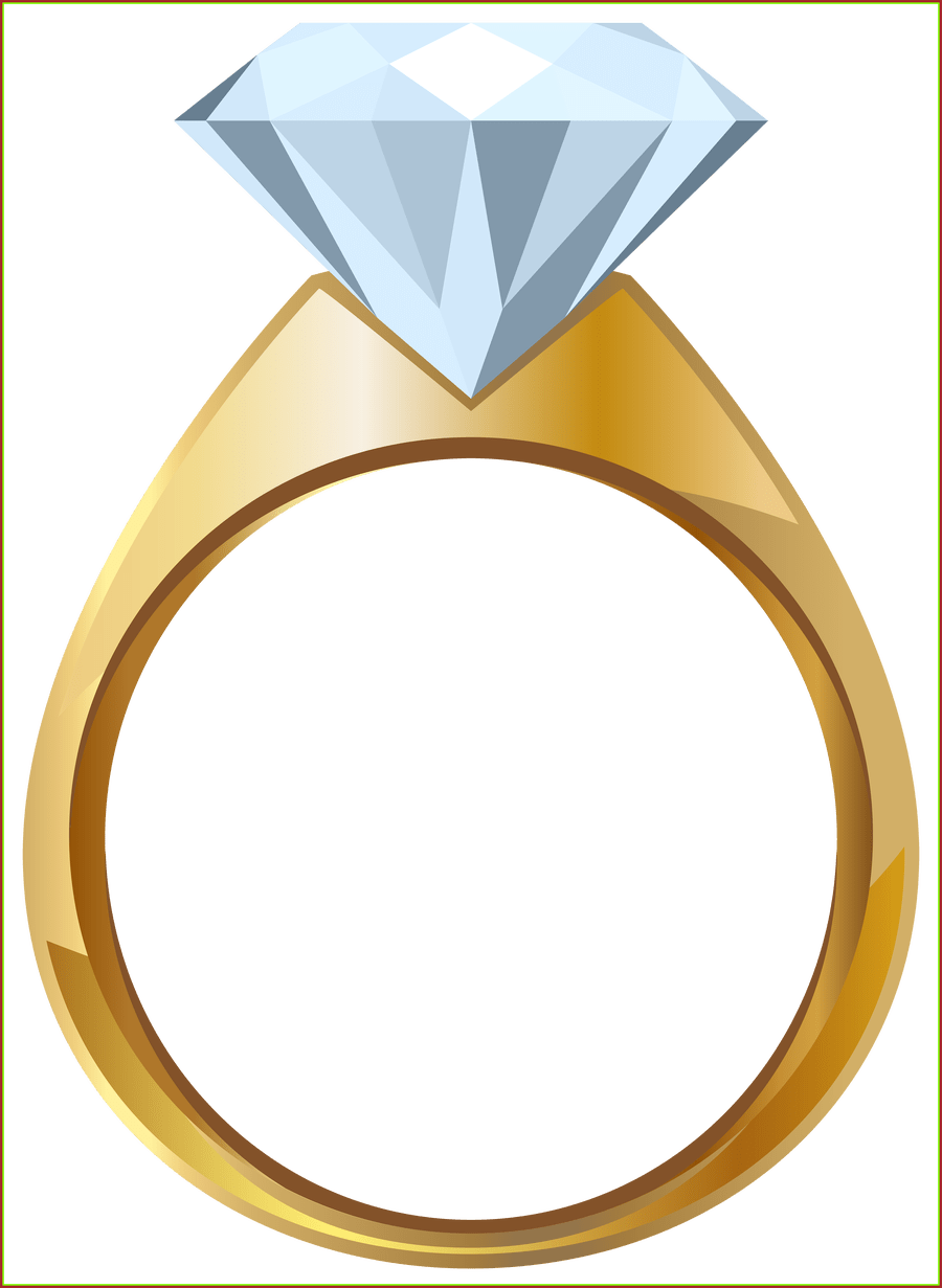 Engagement clipart small ring. Stunning gold png transparent