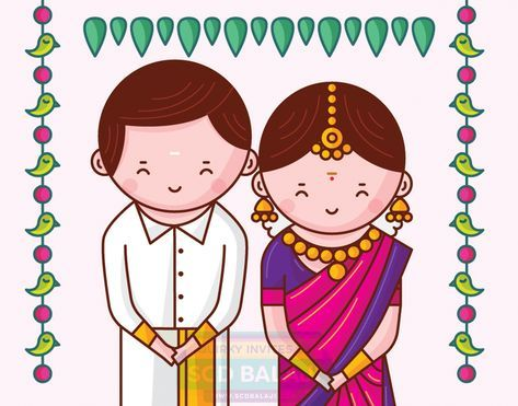 Nadu south indian wedding. Engagement clipart tamil