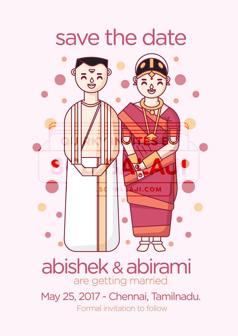 Brahmin wedding invitation save. Engagement clipart tamil
