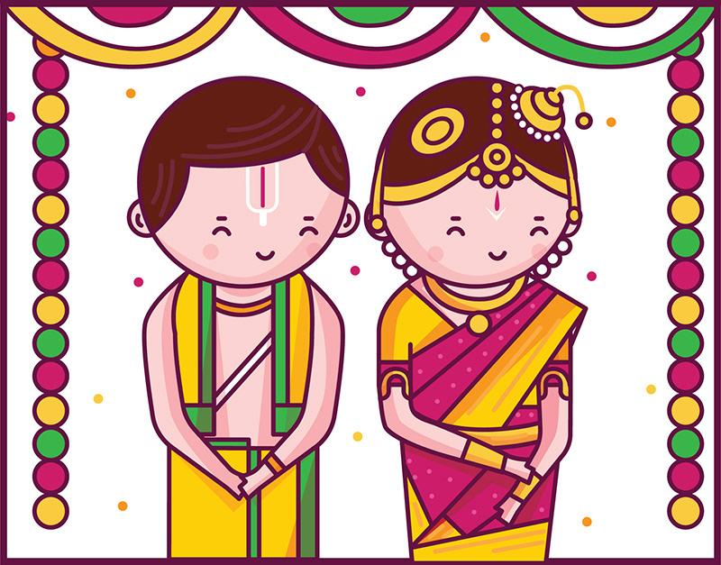 Engagement clipart tamil. Scd balaji cute indian