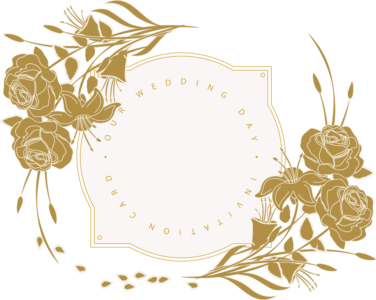 Invitation floral design card. Engagement clipart wedding flower