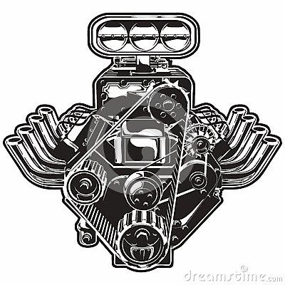 V . Engine clipart