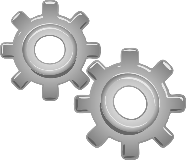 Gears motion motor clip. Engine clipart
