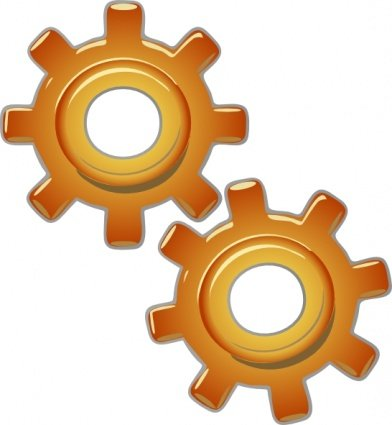 Free gears motion motor. Engine clipart
