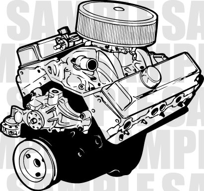 Engine clipart. Chevy